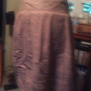 Loft women's light brown skirt size 2